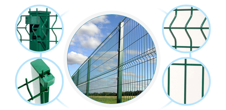 High Quality PVC Coated wire fencing Panel mesh Panel fence Powder painted panel mesh