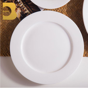 "wholesale catering 6""7""8""9""10""10.5""11"" 12"" 14"" white bone china dinner plate"