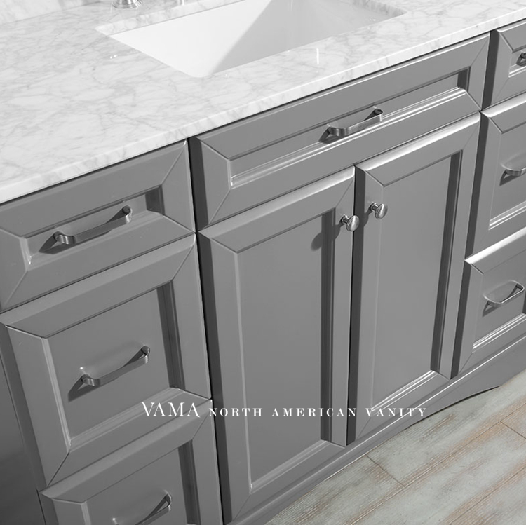Vama 48 Inch Cheap Price Single Sink Carrara Marble Top ...