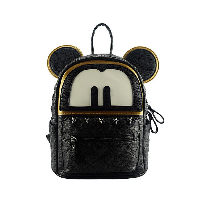 1bcde0df65 Buy Cute hello kitty korean school backpacks women leather black backpack  student bag school girl kawaii fashion rivet backpack 2015 in Cheap Price  on ...