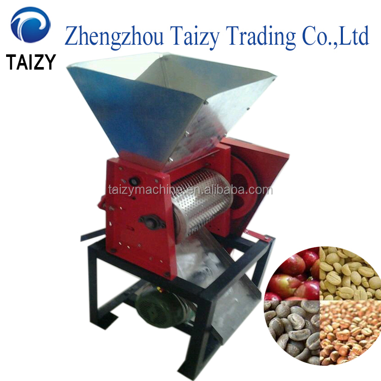 Efficient freshing coffee bean peeling machine/coffee bean huller machine/coffee pulper