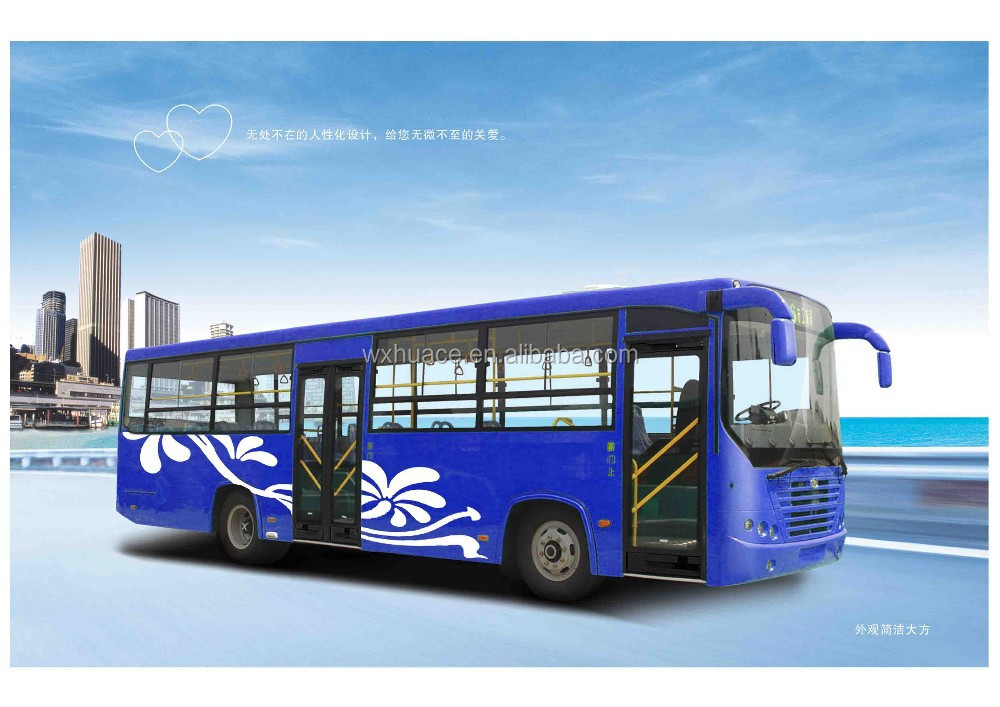 Popular made in china 10m 19-40 seats CNG public bus with price