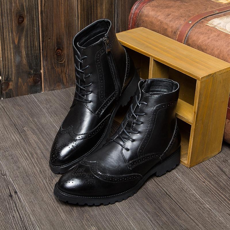 nouveaux hommes noir marron anbe en cuir v ritable bottines richelieu chaussures lacets de. Black Bedroom Furniture Sets. Home Design Ideas