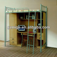 Large Storing Space Wood and Steel Single Bed