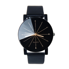 Attractive High qualty New Arrival Men Quartz Dial Clock Leather Wrist Watch Round Case Free ShippingJY28