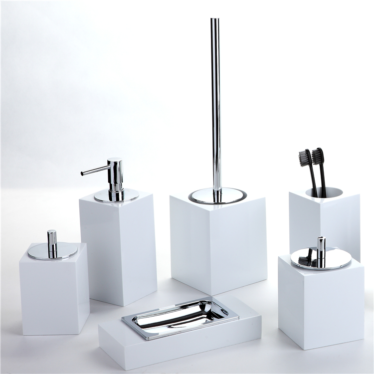 2017 white resin hotel bathroom amenity accessories sets