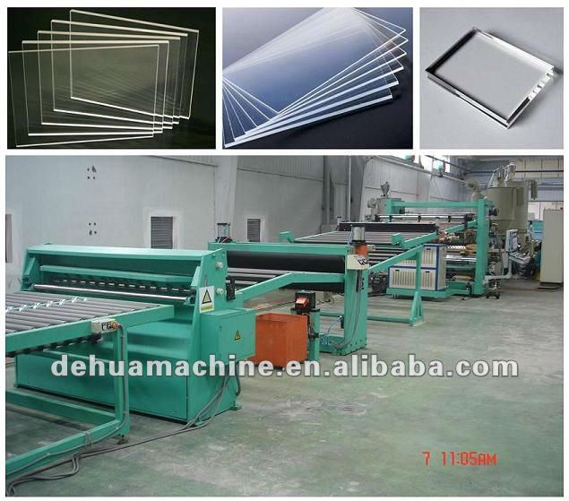 Acrylic plate extrusion line