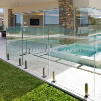 Moderne Edelstahl Zapfen Glasgelander Balkon Gehartetem Glas