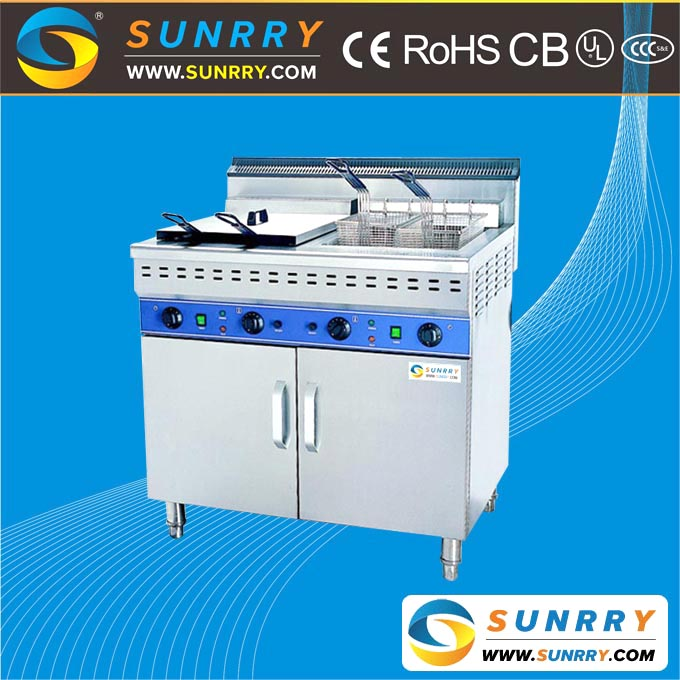 Commercial automatic double tank 2 basket lift henny penny deep fryer for fried chicken