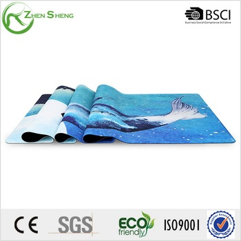 Zhensheng anti-slip and durable rubber fitness yoga mat