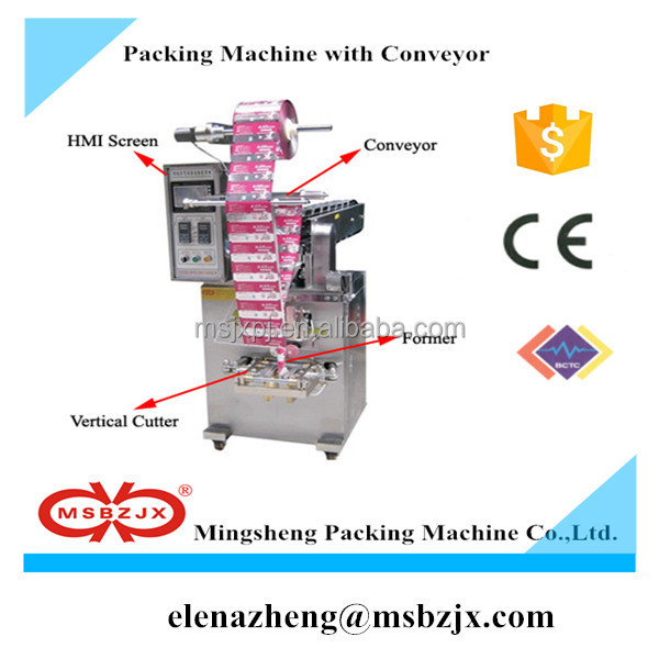 Hot sale price JX024 Semi-automatic dried food Packaging Machine with convoyer belt