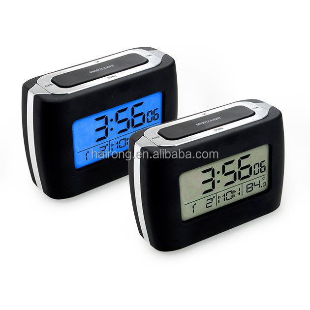 Hairong new product radio controll alarm clock movement little size table clock