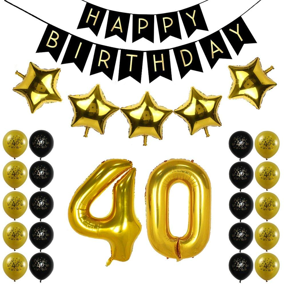 40th Birthday Decorations Kit