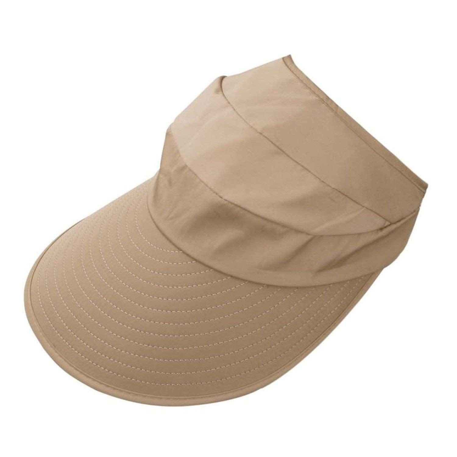 2c464133 Get Quotations · Solme New Women Summer Sun Hats Sun Visor Sun Hats with Big  Heads Solid Nylon Fastener