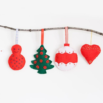 factory direct selling eco friendly colorful different types felt outdoor christmas decorations - Different Christmas Decorations