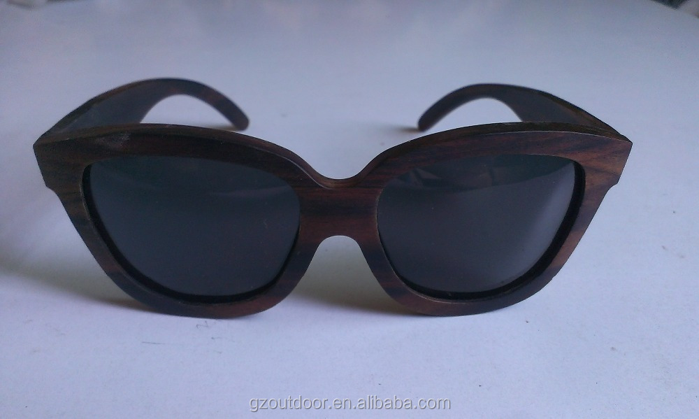 handcraft bamboo ebony wood thick frame glasses, manufacturer Grenadilla goggles, wholesale flexible spring hinges spectacles