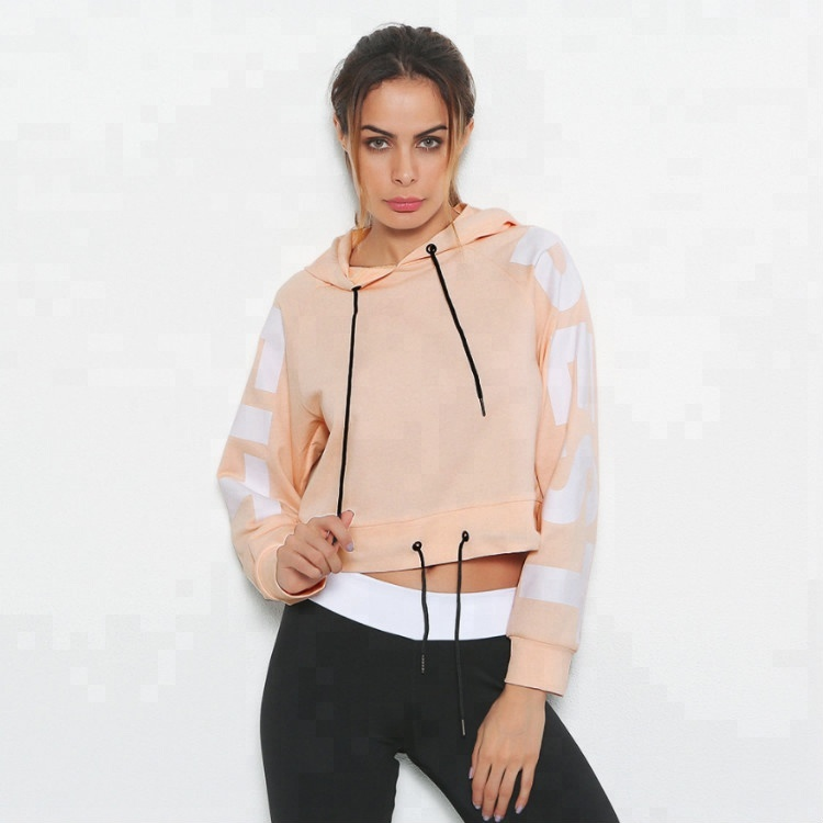 Autumn Fashion New Long Sleeve Sports Yoga Tops Women Quick Dry Fitness Hoodie