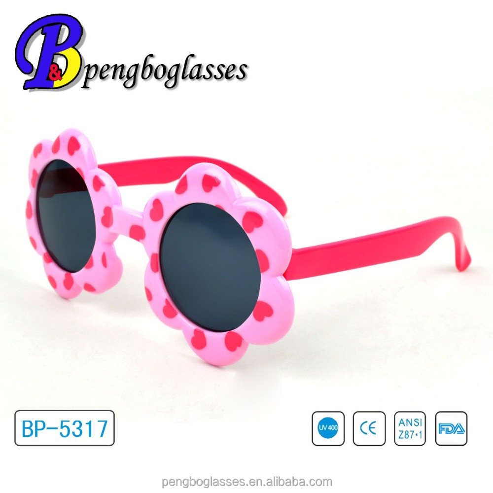 Lovely little girl flower shape sunglasses for kids