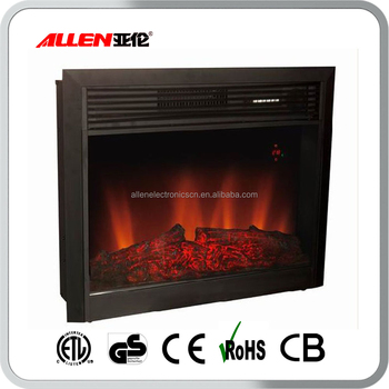 Free Standing Cast Iron Decor Flame Fake Electric Fireplace Insert Firebox Heater