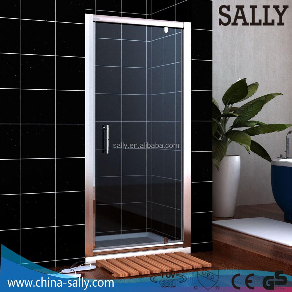 A0706P1 enmarcado puerta de pivote 6mm vidrio cabina de ducha con ...