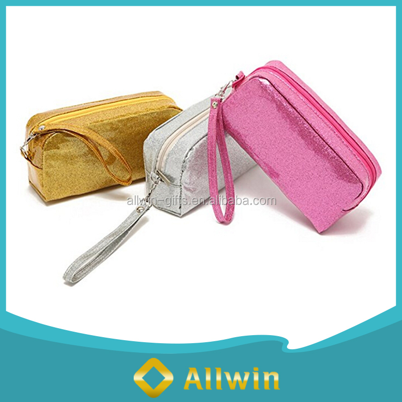 PVC Glitter Cosmetic Bag, Clutch Travel Cosmetic Bags, Makeup Cosmetic Bag Wholesale