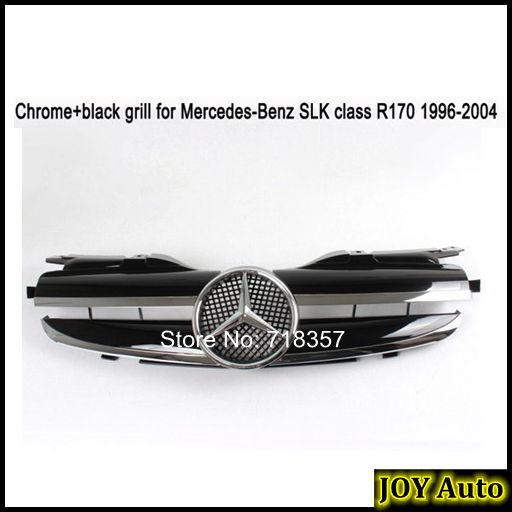 Chrome Auto Front Grill Grille Mesh For Mercedes Benz B: Chrome+Black SLK200 SLK230 Facelift Car Auto Front Bumper