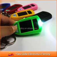 custom printed solar car keychain Solar Keychain with projector light