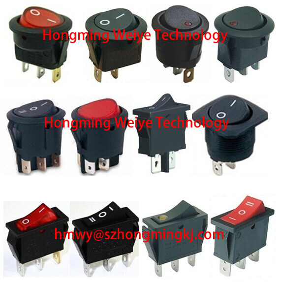 electrical 6pin rocker switches for electric fireplace