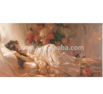 Uyuyan Güzel Kız Boyama Izlenimci Yağlı Boya Tuval Buy Güzel Kadın