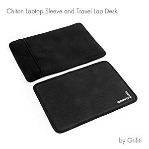 Grifiti Chiton 15 Macbook Sleeve and Travel Deck 15 Laptop Lap Desk Combination for 15 Inch Notebooks