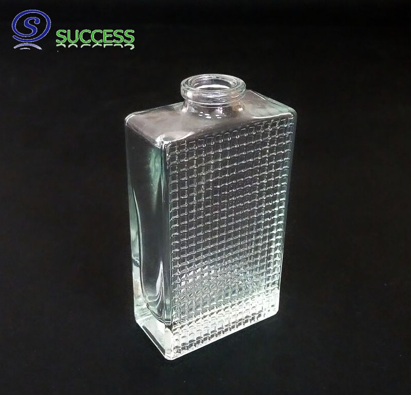 Empty Square Cologne Glass Bottle A-1