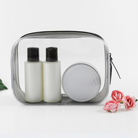 Promotion reusable clear printed transparent zipping storage cosmetic toiletry pvc makeup bag for travel make up