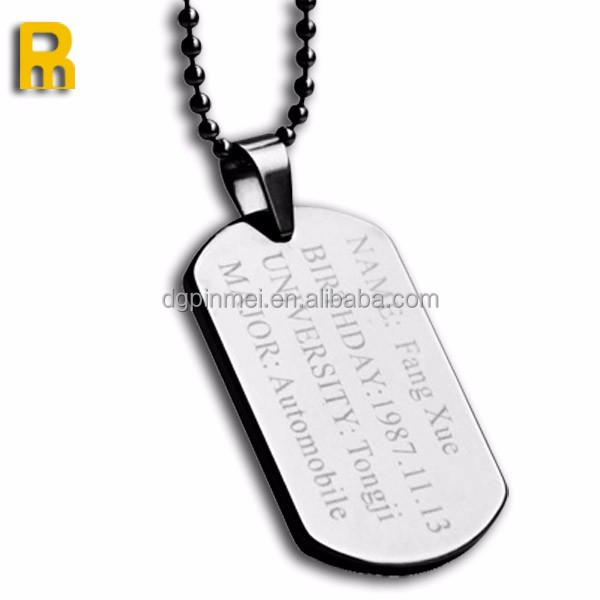Aluminum Alloy Type and Nautical Style sublimation metal dog tag
