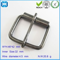 Brass Roller Pin Buckle For Belts, Black Color Plated