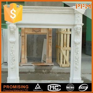 Fashionable design marble french style marble fireplace mantel hearth