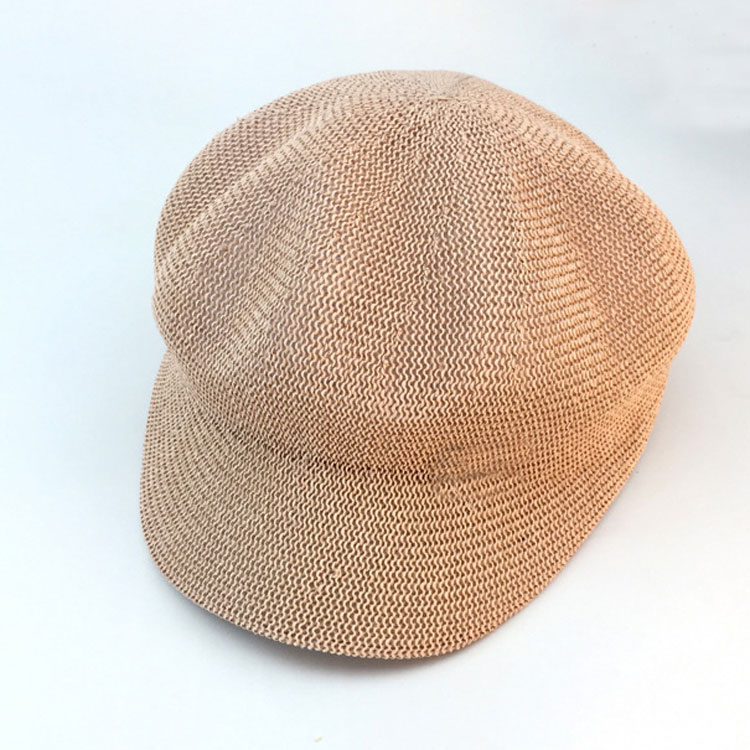 747d4bc8d8119 Top Sell Women Fashion Octagonal French Pink Beret Straw Hat ...