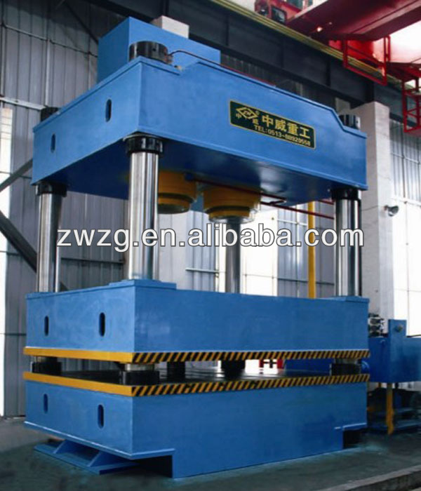 32 series 4 column hydraulic swing arm press cutting machine with TUV ISO certification and heart service