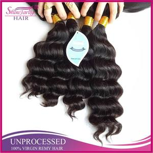 No adhesive loose wave in stock 24 hours delivery bulk hair for wig making box braids human hair product beauty