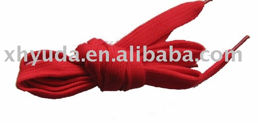 Red Polyester Flat Shoelaces