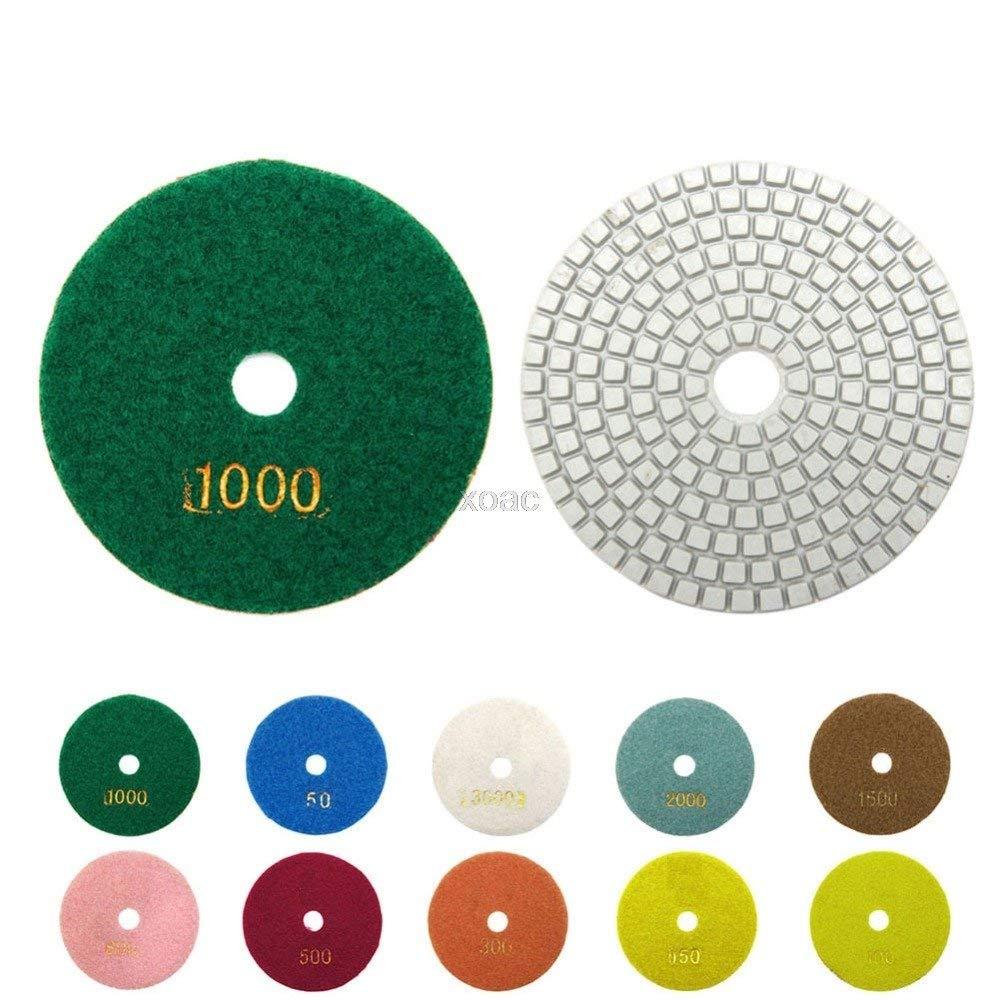 "KINWAT 1PC Diamond Polishing Pads 4"" 100mm Wet/Dry Granite Stone Concrete Marble Disc M05 dropship"
