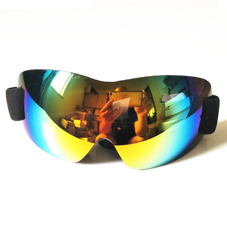 Dropshipping fashionable snowboard skate ski goggles with coloful lens for adults