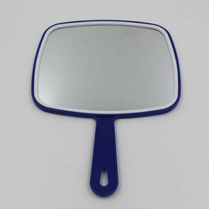 Plastic Single Side Square Shape Mini Make up Mirror With Handle