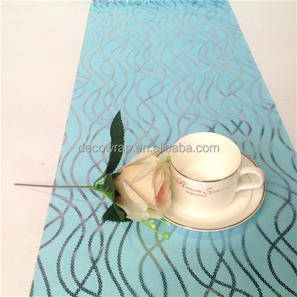 Wedding Wavy Organza Table Cloth