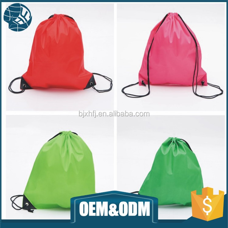 Wholesale oem printed travel wash bags promotional non woven packaging drawstring shooping bag