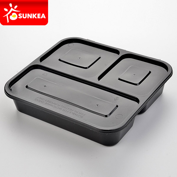 3 Compartments Clear Disposable Plastic Food Box With Lid - Buy Plastic  Food Box Product on Alibaba com