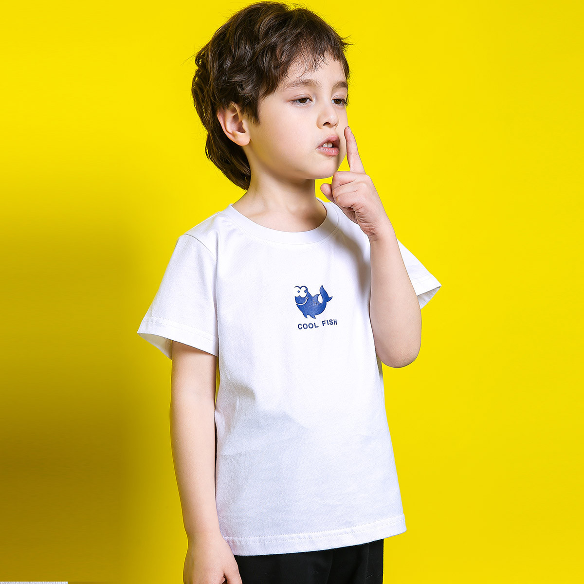 european style elegant kids short sleeve tshirtcustom design Printing logo child  tshirt