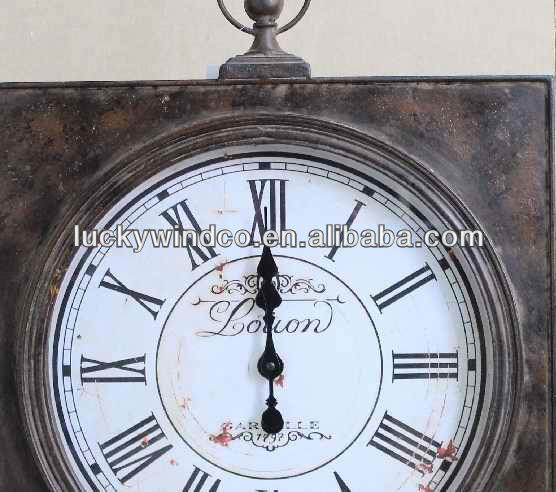industrielle vieux style vintage horloge murale d corative en m tal horloge murale id du produit. Black Bedroom Furniture Sets. Home Design Ideas