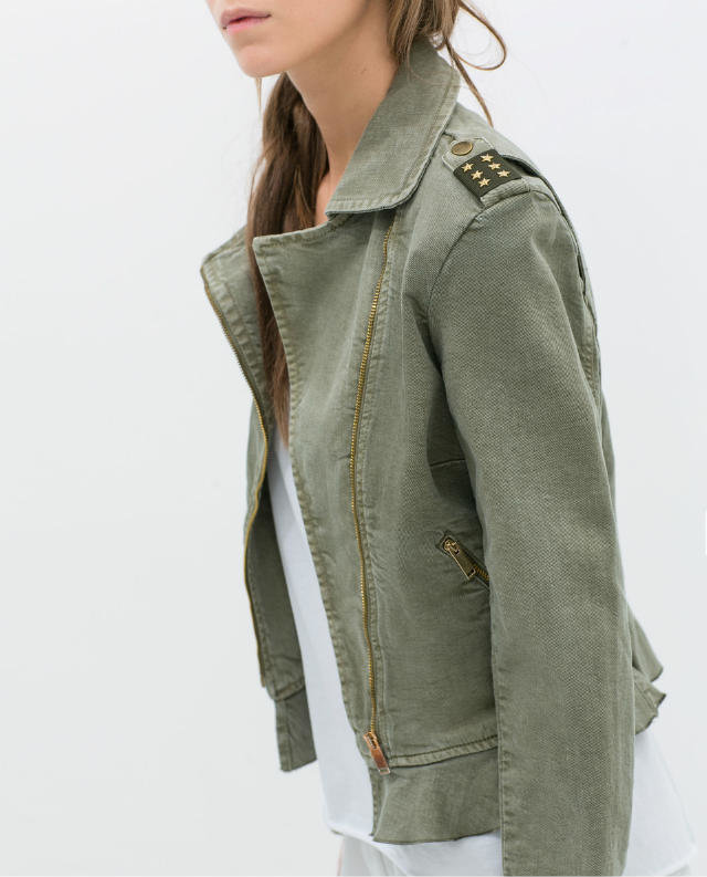 Green Denim Jacket Womens Jacketin