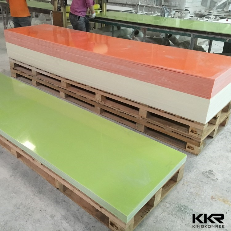KKR polyester resin solid surface composite marble top with solid surface adhesives