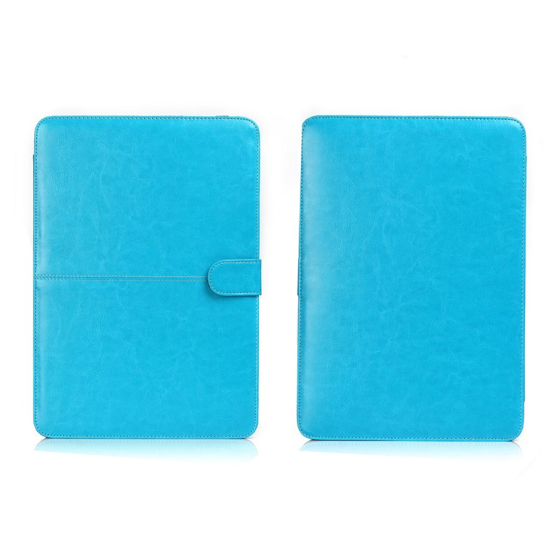 2016 PU Leather Covers Blu Color Laptop Cover Sleeve